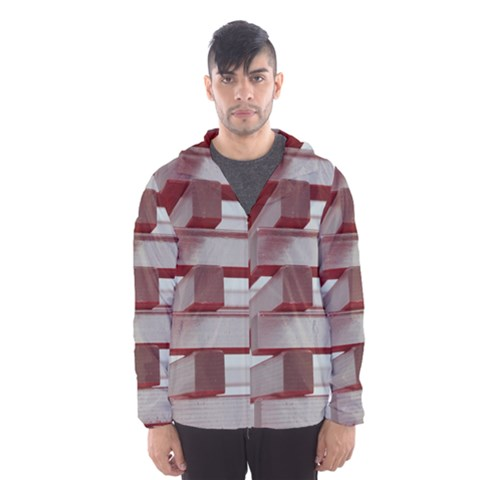 Red Sunglasses Art Abstract  Hooded Wind Breaker (Men)