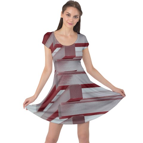 Red Sunglasses Art Abstract  Cap Sleeve Dresses