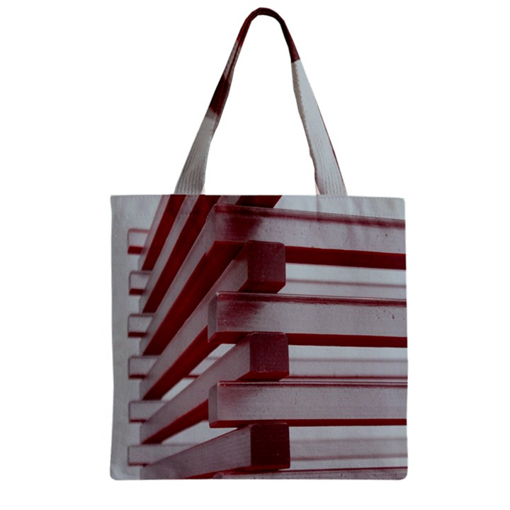 Red Sunglasses Art Abstract  Zipper Grocery Tote Bag