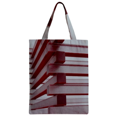 Red Sunglasses Art Abstract  Zipper Classic Tote Bag