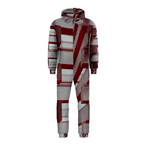 Red Sunglasses Art Abstract  Hooded Jumpsuit (Kids)