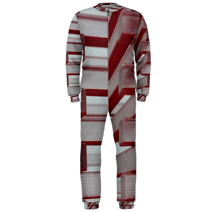 Red Sunglasses Art Abstract  OnePiece Jumpsuit (Men)