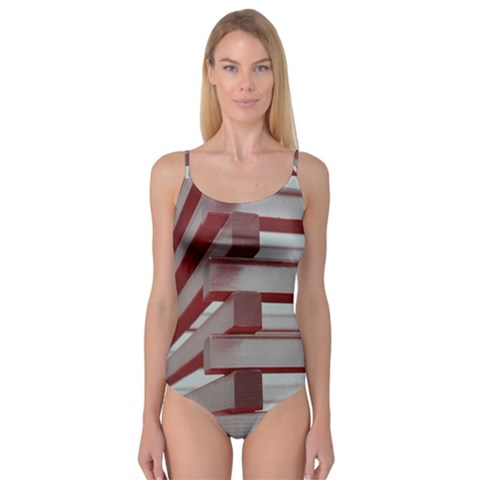 Red Sunglasses Art Abstract  Camisole Leotard