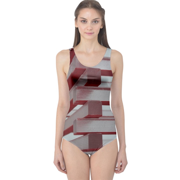 Red Sunglasses Art Abstract  One Piece Swimsuit
