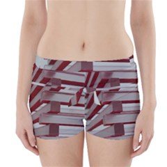 Red Sunglasses Art Abstract  Boyleg Bikini Wrap Bottoms