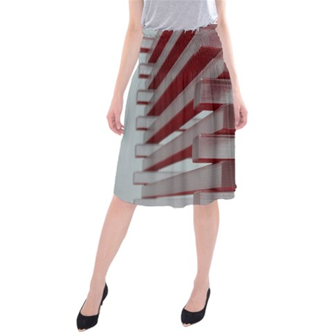 Red Sunglasses Art Abstract  Midi Beach Skirt