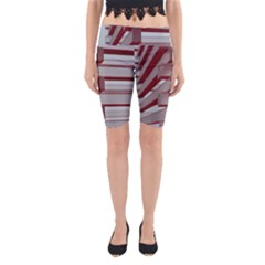 Red Sunglasses Art Abstract  Yoga Cropped Leggings