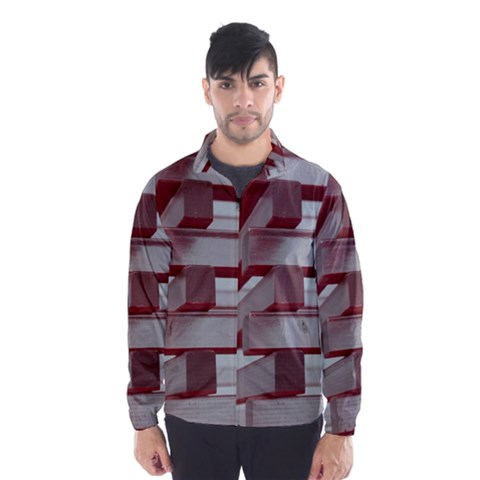 Red Sunglasses Art Abstract  Wind Breaker (Men)