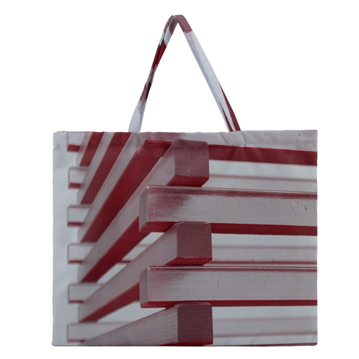 Red Sunglasses Art Abstract  Zipper Large Tote Bag