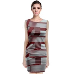 Red Sunglasses Art Abstract  Classic Sleeveless Midi Dress