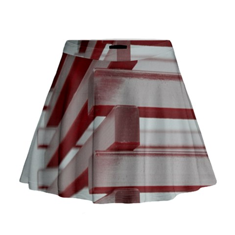 Red Sunglasses Art Abstract  Mini Flare Skirt