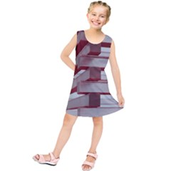 Red Sunglasses Art Abstract  Kids  Tunic Dress