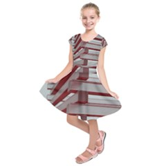 Red Sunglasses Art Abstract  Kids  Short Sleeve Dress