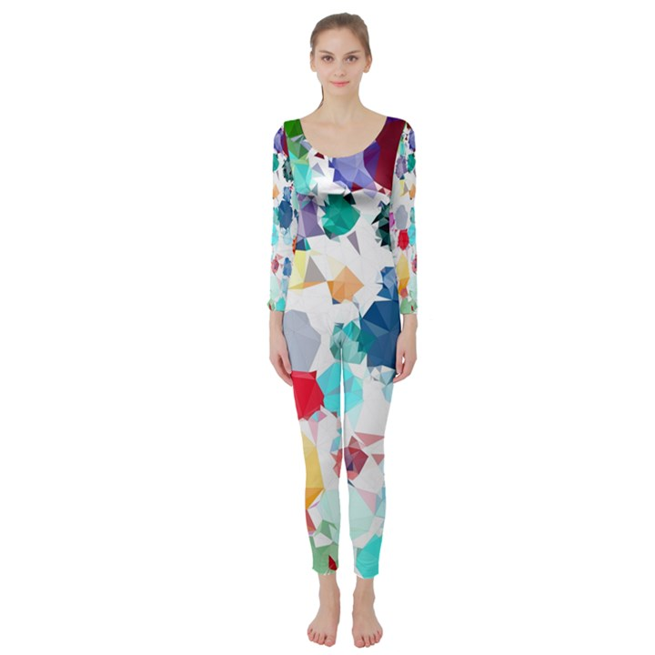 Colorful Diamonds Dream Long Sleeve Catsuit
