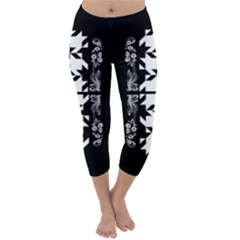 Black deco Capri Winter Leggings