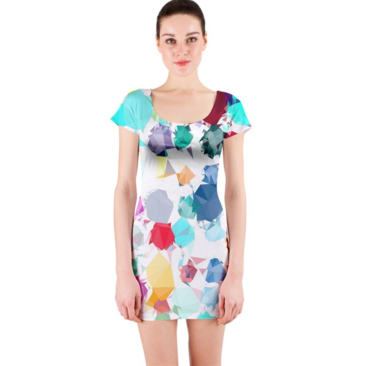 Colorful Diamonds Dream Short Sleeve Bodycon Dress