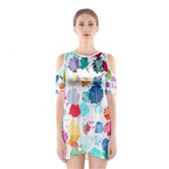 Colorful Diamonds Dream Women s Cutout Shoulder One Piece
