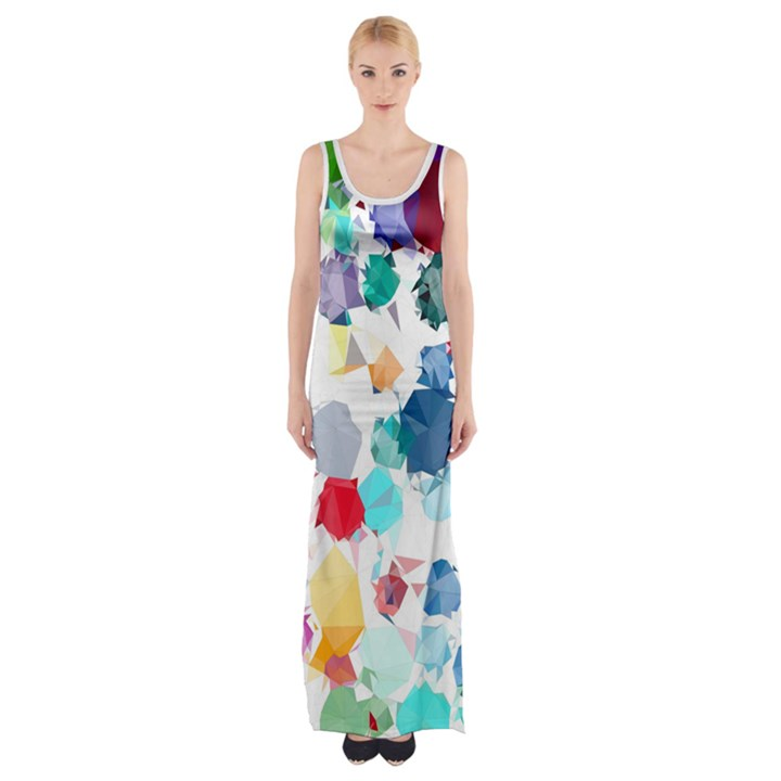 Colorful Diamonds Dream Maxi Thigh Split Dress