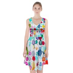 Colorful Diamonds Dream Racerback Midi Dress