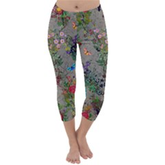 butterflies and flowers2 Capri Winter Leggings