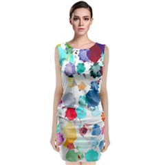 Colorful Diamonds Dream Classic Sleeveless Midi Dress