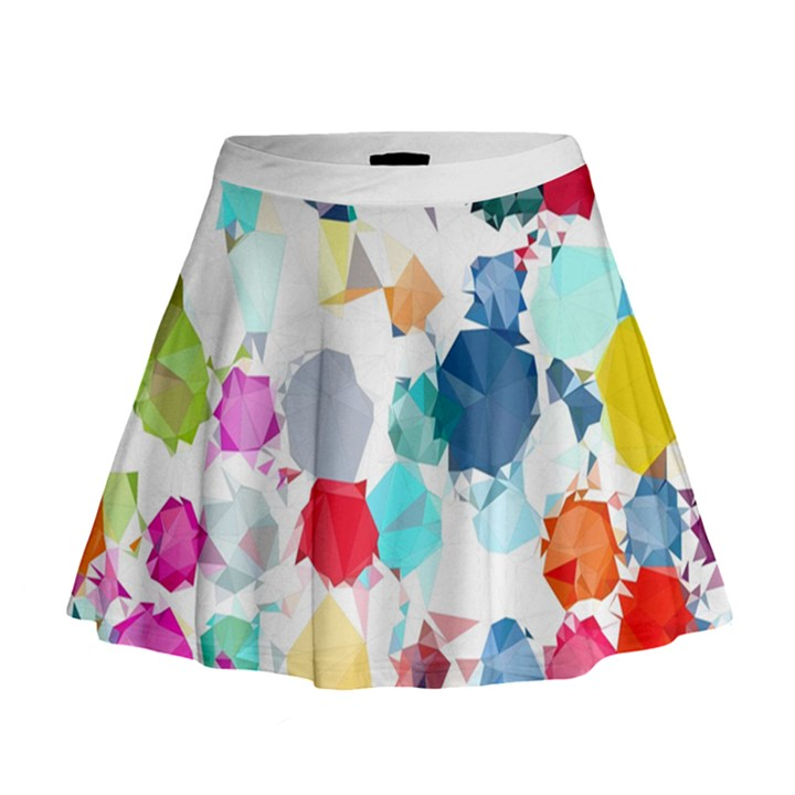 Colorful Diamonds Dream Mini Flare Skirt