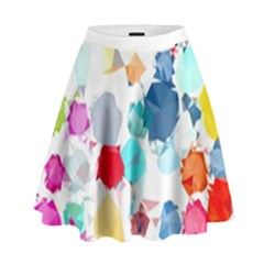Colorful Diamonds Dream High Waist Skirt
