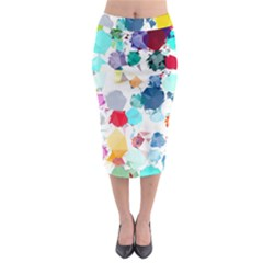 Colorful Diamonds Dream Midi Pencil Skirt
