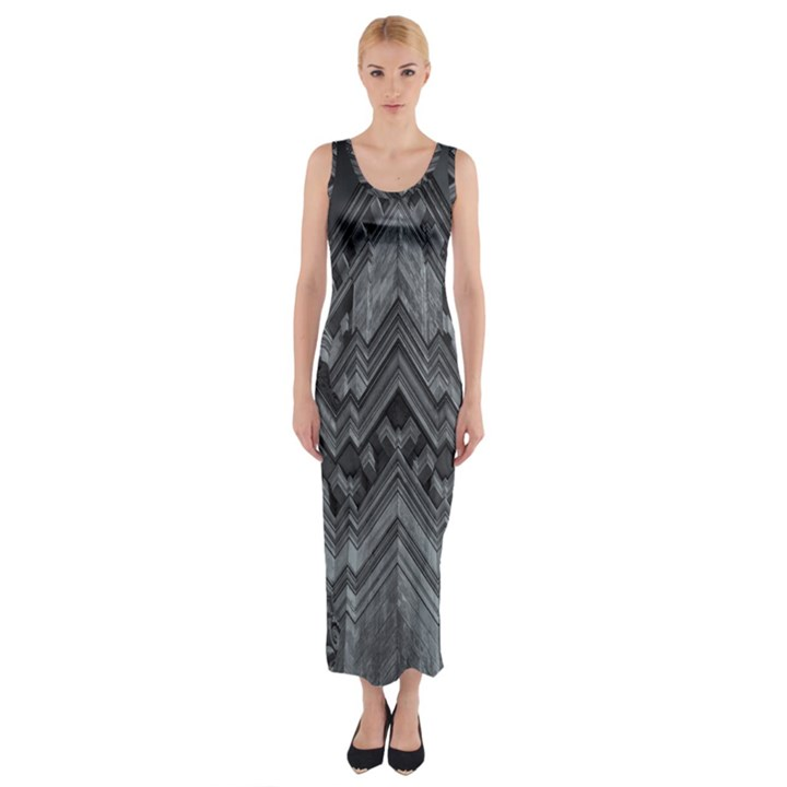 Reichstag Berlin Building Bundestag Fitted Maxi Dress