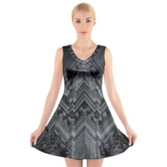 Reichstag Berlin Building Bundestag V-Neck Sleeveless Skater Dress