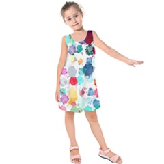 Colorful Diamonds Dream Kids  Sleeveless Dress