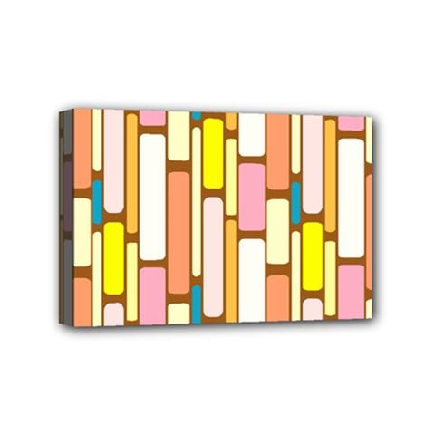 Retro Blocks Mini Canvas 6  x 4