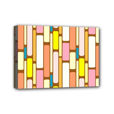 Retro Blocks Mini Canvas 7  x 5