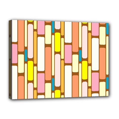 Retro Blocks Canvas 16  x 12