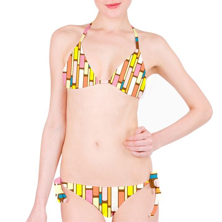 Retro Blocks Bikini Set