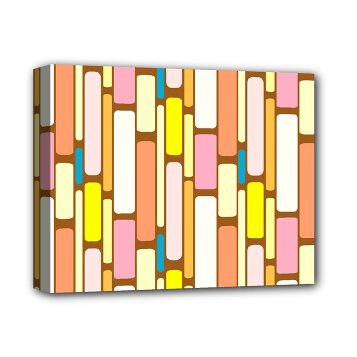 Retro Blocks Deluxe Canvas 14  x 11