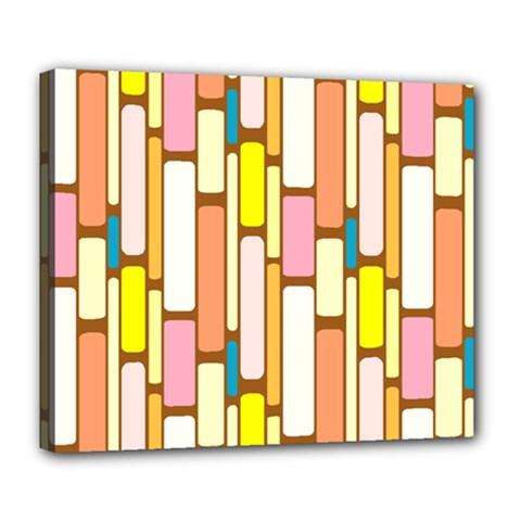 Retro Blocks Deluxe Canvas 24  x 20