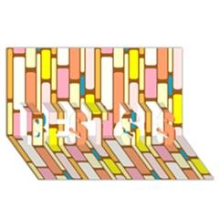 Retro Blocks BEST SIS 3D Greeting Card (8x4)