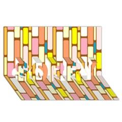 Retro Blocks SORRY 3D Greeting Card (8x4)