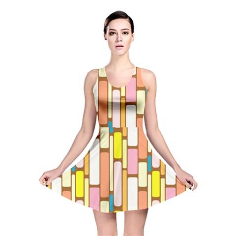 Retro Blocks Reversible Skater Dress