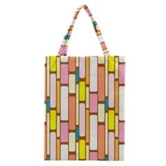 Retro Blocks Classic Tote Bag