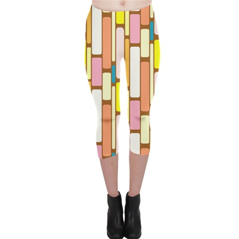 Retro Blocks Capri Leggings