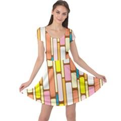 Retro Blocks Cap Sleeve Dresses