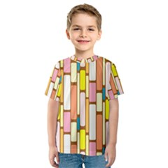 Retro Blocks Kids  Sport Mesh Tee