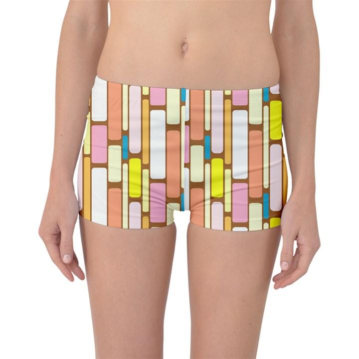 Retro Blocks Boyleg Bikini Bottoms