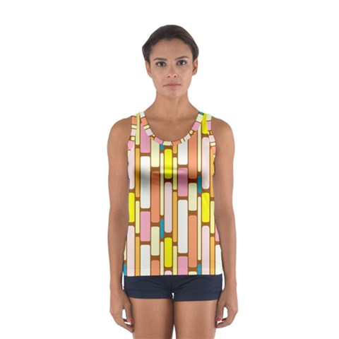 Retro Blocks Women s Sport Tank Top