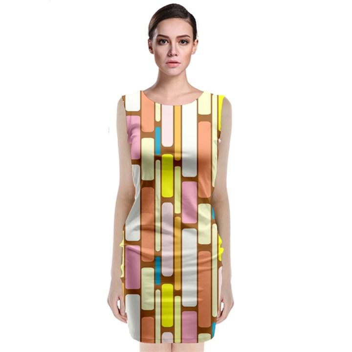 Retro Blocks Classic Sleeveless Midi Dress
