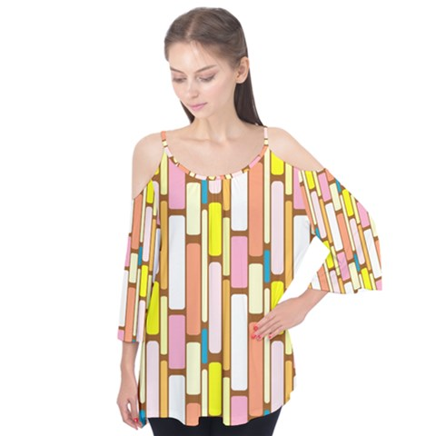 Retro Blocks Flutter Tees