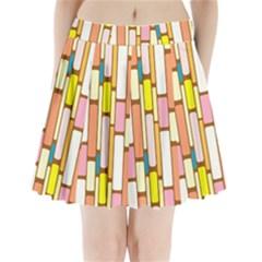 Retro Blocks Pleated Mini Skirt