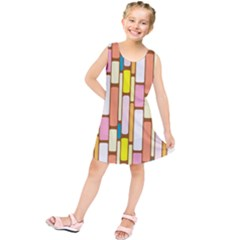 Retro Blocks Kids  Tunic Dress